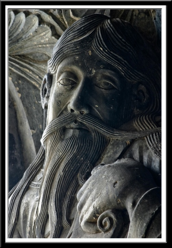 Trumeau statue of Jeremiah, Abbatiale Saint Pierre, Moissac (Tarn-et-Garonne)