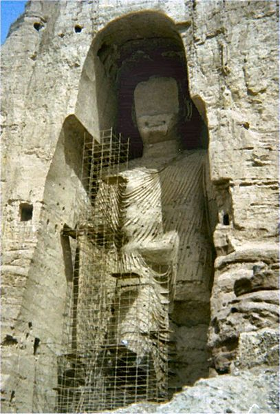 Buddhas of Bamyan, Photo by Marco Bonavoglia,  Used by permission  GNU Free Documentation License