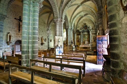 The double nave of Eglise Sainte Anne, Heume l'Eglise (Puy de Dôme)  Photo by PJ McKey