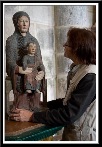 PJ McKey and Notre Dame d'Heume l'Eglise, Photo by Dennis Aubrey