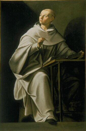 Philippe Quantin (c. 1600 -.1636) Saint Bernard écrivant  (Oil on canvas, Musée des Beaux-Arts, Dijon)