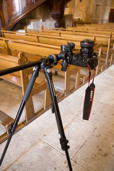 Rig for shooting vaults with 17mm tilt shift