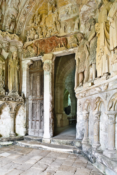 South porch of Notre Dame de Mont-Devant-Sassey (Haute-Marne)  Photo by PJ McKey