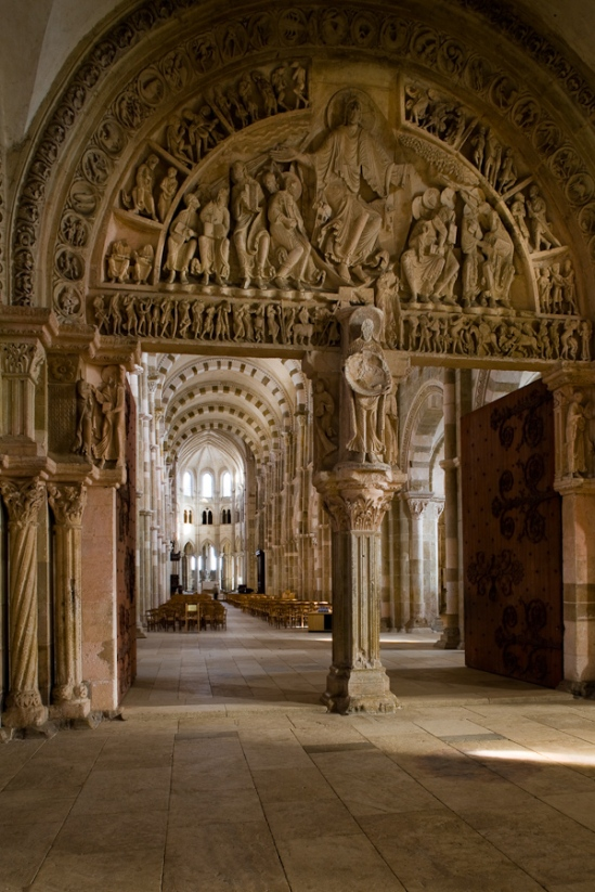 The trumeau in the narthex - or maybe not - Basilique Sainte Madeleine, Vézelay  (Yonne)  Photo by Dennis Aubrey