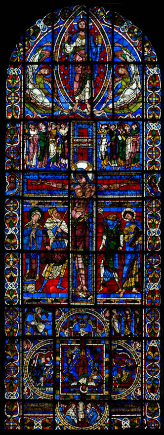Crucifixion window, Cathédrale de Saint Pierre