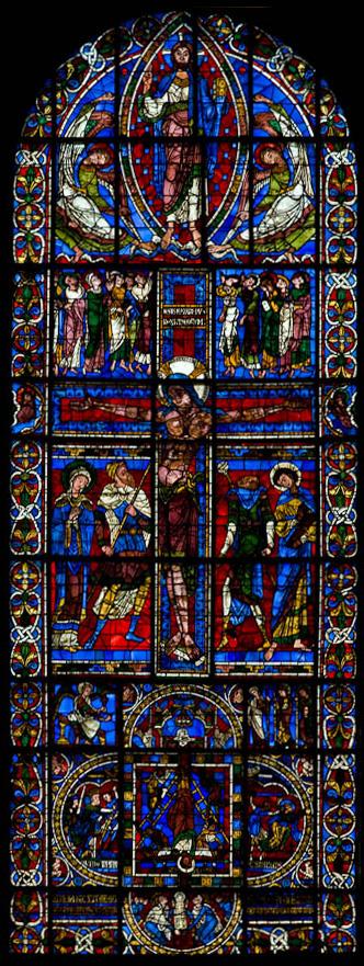 Crucifixion window, Cathédrale de Saint Pierre