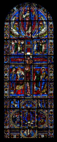 Crucifixion window, Cathédrale de Saint Pierre, Poitiers (Vienne)  Photo by Dennis Aubrey