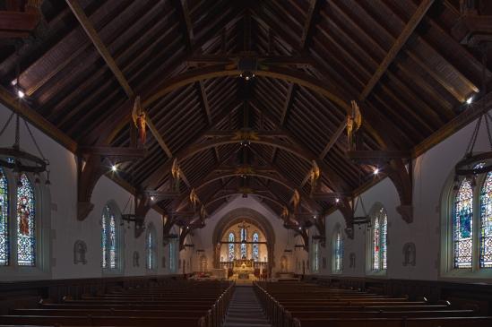 Nave of Saint Ann Church, Lenox (Massachusetts)   Photo by Dennis Aubrey