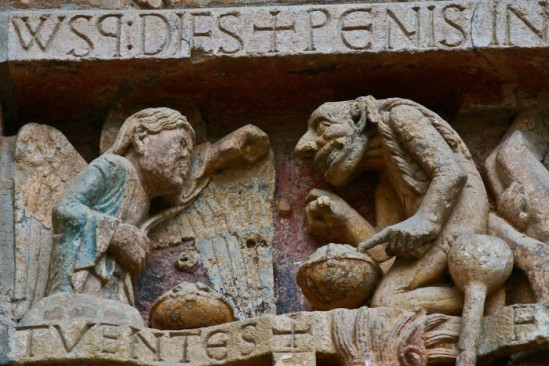 Capital - the Weighing of Souls, Basilique Sainte Foy, Conques (Aveyron)  Photo by PJ McKey