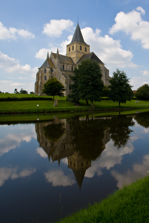 Exterior of the Abbatiale Saint Vigor, Cerisy-la-Forêt (Manche)  Photo by Dennis Aubrey