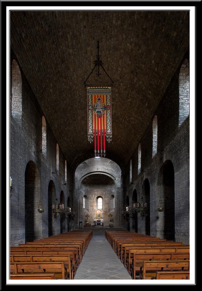 Nave of the Monastir de Santa Maria, Ripoll (Girona)  Photo by Dennis Aubrey