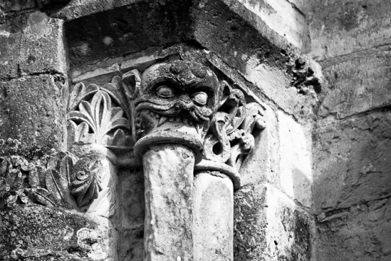 """Column Swallower"" at Église Saint-Nicolas, Civray (Vienne)"