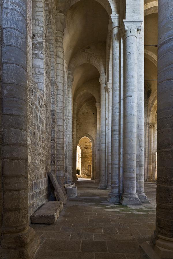 Side aisle of Église Saint-Pierre , Parthenay-le-Vieux (Deux-Sèvres) Photo by PJ McKey