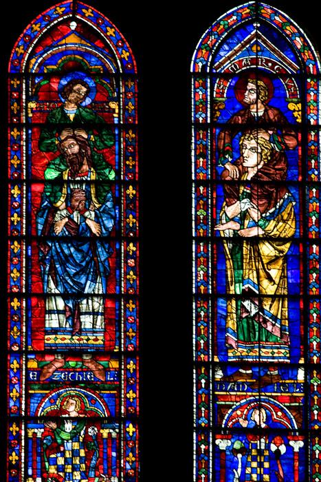 South transept lancet windows, Cathédrale Notre Dame de Chartres, Chartres (Eure) Photo by Dennis Aubrey