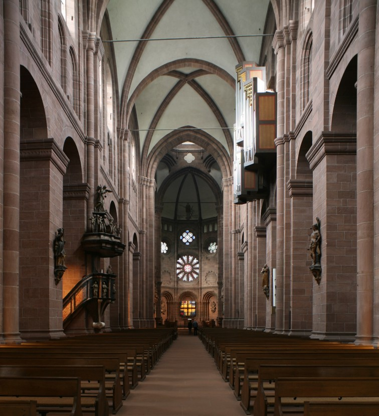 Nave to chancel, Dom Sankt Peter, Worms (Rhineland-Palatinate)  Photo by Jong-Soung Kimm