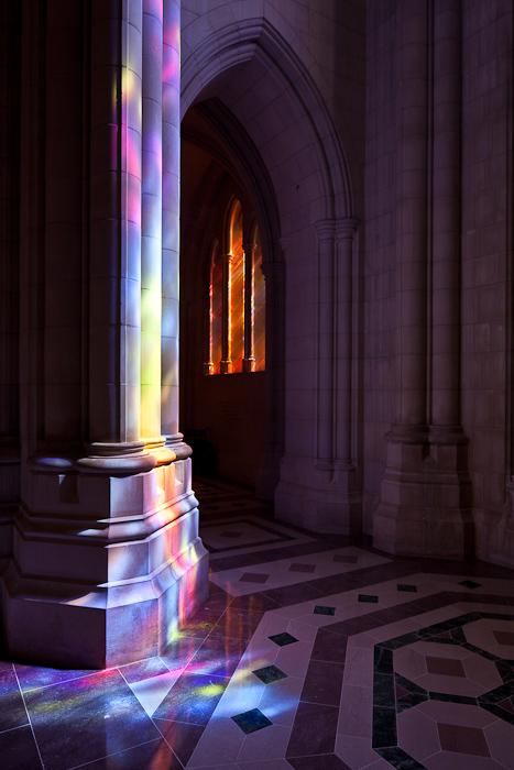 Light on pillar, Washington National Cathedral, Washington DC  (Photo by PJ McKey)