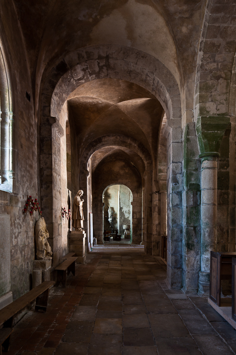 North side aisle, Église Mont Saint Vincent (Saône-et-Loire)  Photo by PJ McKey