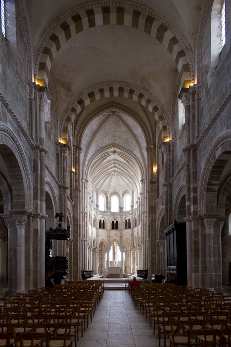 Apse, Basilique Sainte Madeleine, Vézelay (Yonne)  Photo by Dennis Aubrey