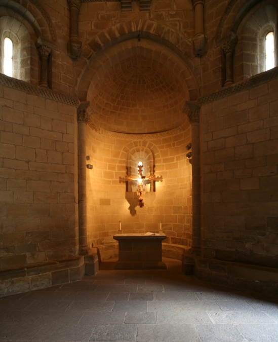 La Iglesia del Santo Sepulcro, Torres del Rio (Navarra), View of the Apse Photo by Jong-Soung Kimm