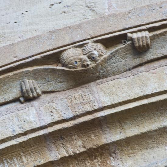 Basilique Sainte Foy, Conques (Aveyron)  Photo by Dennis Aubrey