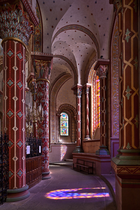 South side aisle, Basilique Saint Austremoine, Issoire (Puy de Dôme)  Photo by PJ McKey