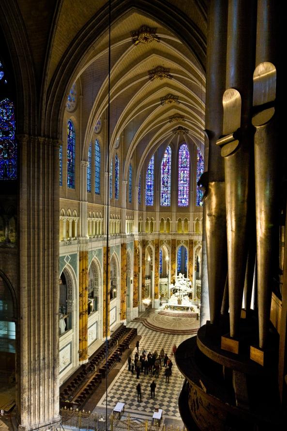 Apse from the tribunes, Cathédrale Notre Dame de Chartres, Chartres (Eure-et-Loir)  Photo by PJ McKey