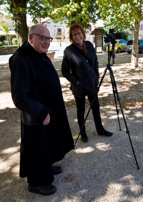 Dom Angelico Surchamp and PJ McKey, Église Sainte Marie Madeleine, Le Villars (Saône-et-Loire)  Photo by Dennis Aubrey