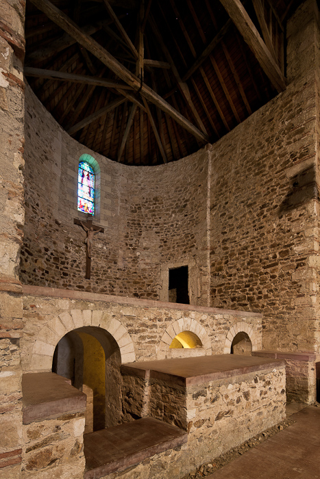 Apse and crypt, Église Abbatiale Saint Philibert-de-Grandlieu, Saint Philibert-de-Grandlieu (Loire-Atlantique)  Photo by Dennis Aubrey
