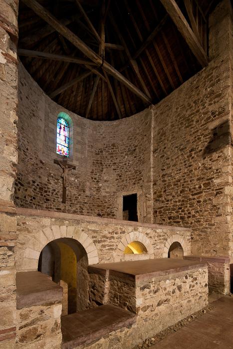 Apse and crypt, Église Abbatiale Saint Philibert-de-Grandlieu, Saint Philibert-de-Grandlieu (Loire-Atlantique)  Photo by Dennis Aubrey