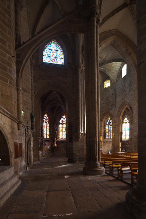 North side aisle, Notre Dame-du-Bon-Secours, Guingamp (Côtes-d'Armor) Photo by Dennis Aubrey