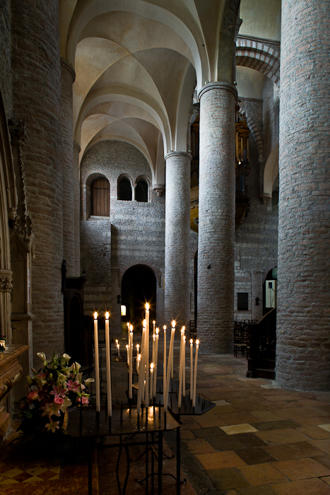 South side aisle, Basilique Saint Philibert, Tournus (Saône-et-Loire) Photo by PJ McKey