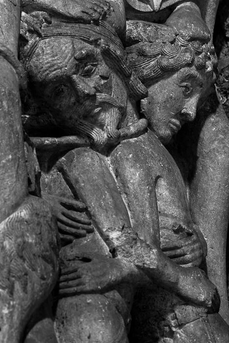 Detail of the trumeau, Saint-Marie de Souillac, Souillac (Lot)  Photo by Dennis Aubrey)