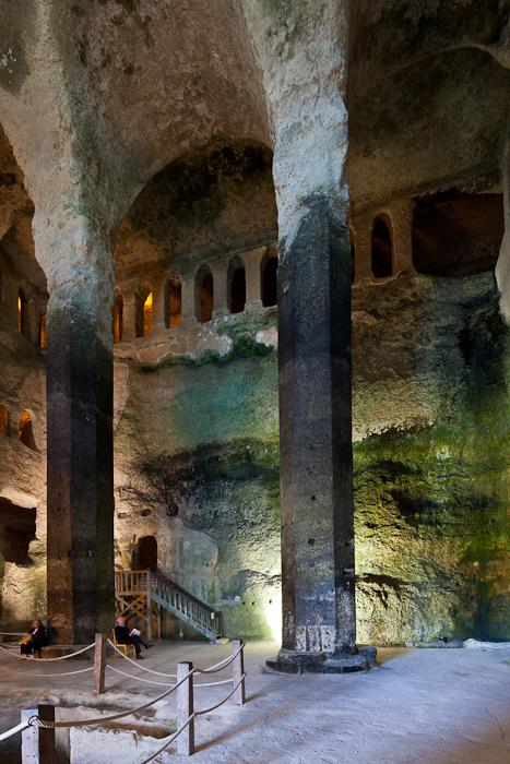 Gallery and pillars, Église Saint Jean, Aubeterre-sur-Dronne (Charente) Photo by Dennis Aubrey