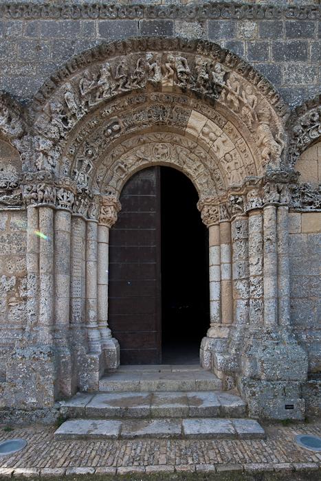 North portal, Église Sainte Radegonde, Talmont (Charente-Maritime)  Photo by Dennis Aubrey
