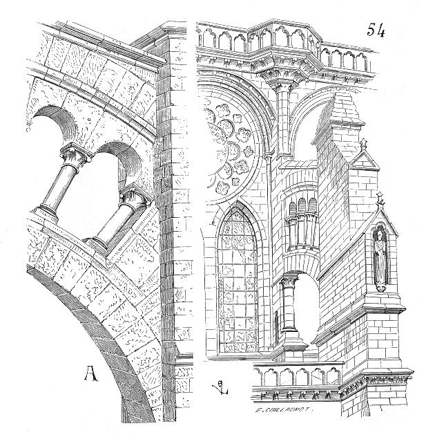 Issu du Dictionnaire raisonné de l'architecture française du XIe au XVIe siècle, par Eugène Viollet-Le-Duc, 1856.