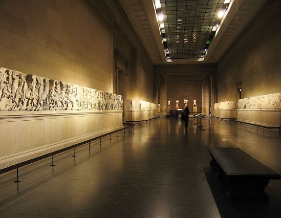 Elgin Marbles, British Museum (London)  Photograph © Andrew Dunn, 5 December 2004 {{cc-by-sa-2.0}} (via Wikimedia Commons)