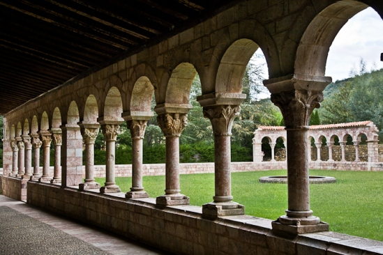The half cloister, Abbaye Saint Michel de Cuxa, Codalet (Pyrénées-Orientales)  Photo by PJ McKey