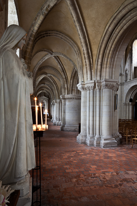 North side aisle,  Église Saint-Samson de Ouistreham, Ouistreham (Calvados)  Photo by PJ McKey