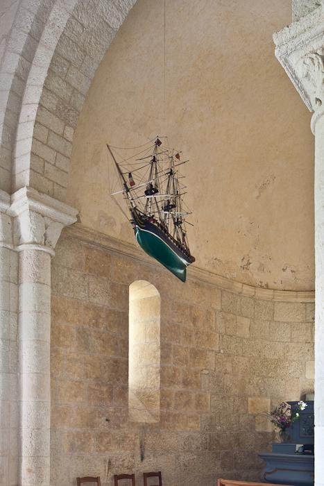 Marine ex-voto, Église Sainte Radegonde, Talmont (Charente-Maritime)  Photo by PJ McKey