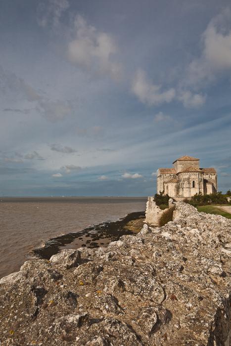 Church on the Gironde estuary, Église Sainte Radegonde, Talmont (Charente-Maritime)  Photo by PJ McKey