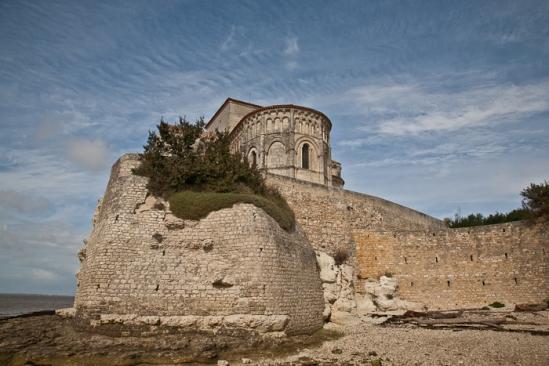 Southeast view, Église Sainte Radegonde, Talmont (Charente-Maritime)  Photo by PJ McKey