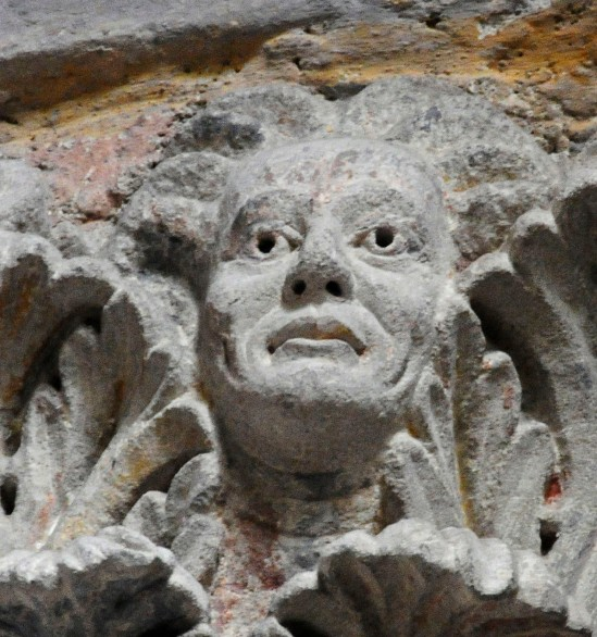 Masque, Abbaye Saint-Pierre et Saint-Caprais, Mozac (Puy-de-Dôme)  Photo by Albert Pinto