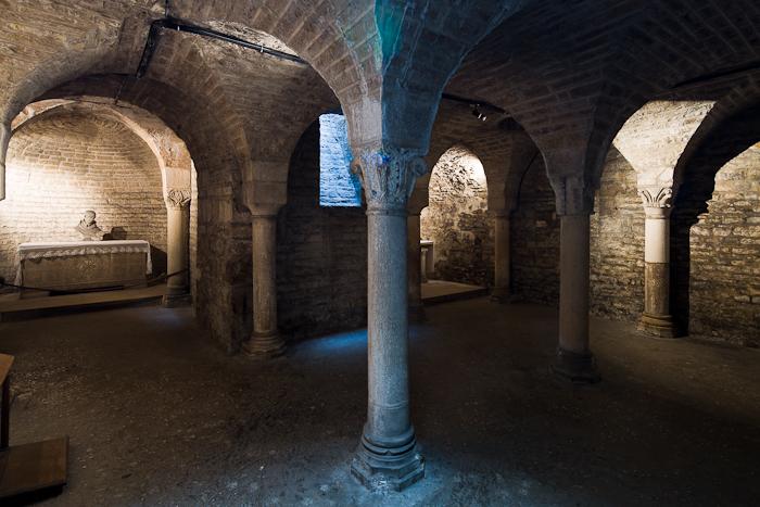 Crypt, Cathédrale Saint Benigne, Dijon (Côte d'Or) Photo by Dennis Aubrey