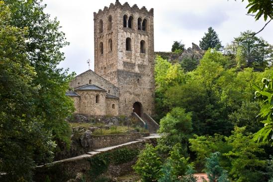 Abbaye Saint Martin du Canigou, Casteil (Pyrénées-Orientales)  Photo by Dennis Aubrey