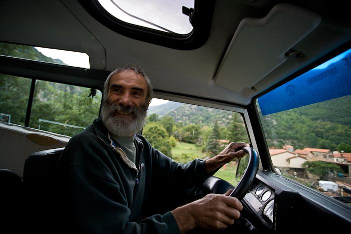 "Our driver of the Canigou ""taxi"", Photo by Dennis Aubrey"