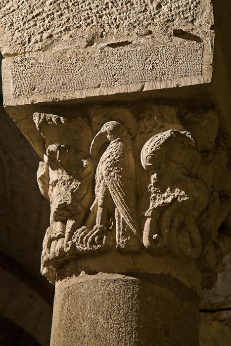 Crypt capital, Cathédrale Saint Benigne, Dijon (Côte d'Or) Photo by PJ McKey