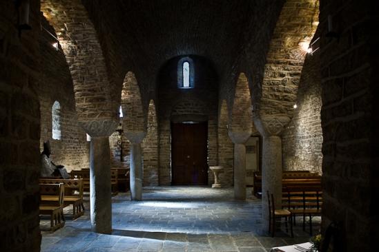 Nave, Abbaye Saint Martin-du-Canigou, Casteil (Pyrénées-Orientales)  Photo by PJ McKey