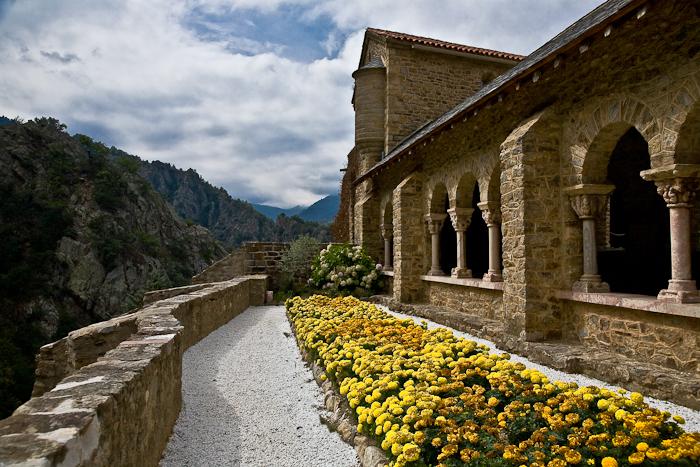 Cloister, Abbaye Saint Martin-du-Canigou, Casteil (Pyrénées-Orientales)  Photo by PJ McKey