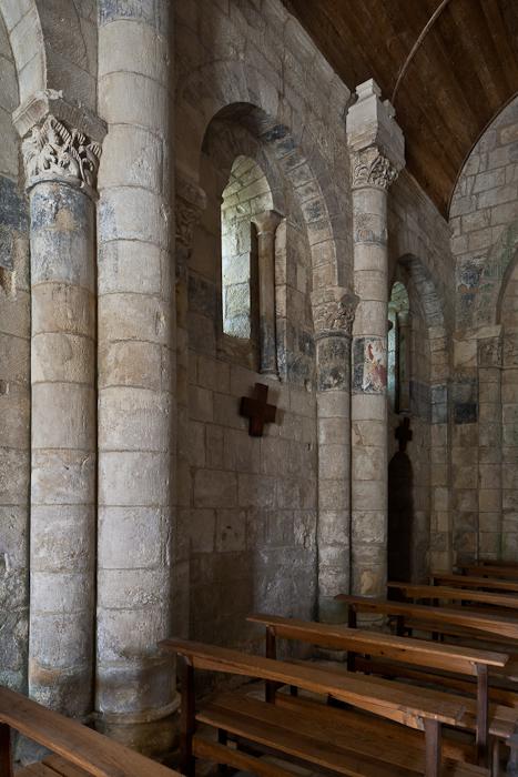 Nave columns, Église Saint Eutrope, Biron (Charente-Maritime)  Photo by PJ McKey