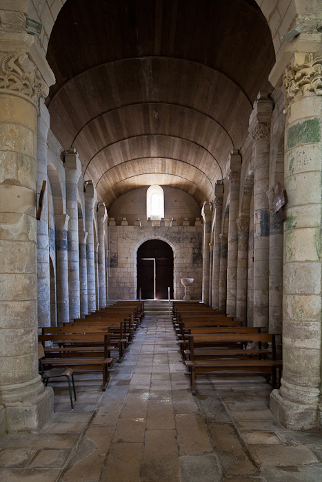 West door from nave, Église Saint Eutrope, Biron (Charente-Maritime)  Photo by PJ McKey